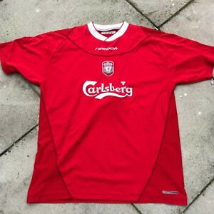 Liverpool Fc Reebok Red Home Shirt Men S Used Size 42 44 Xl B17 Ebay