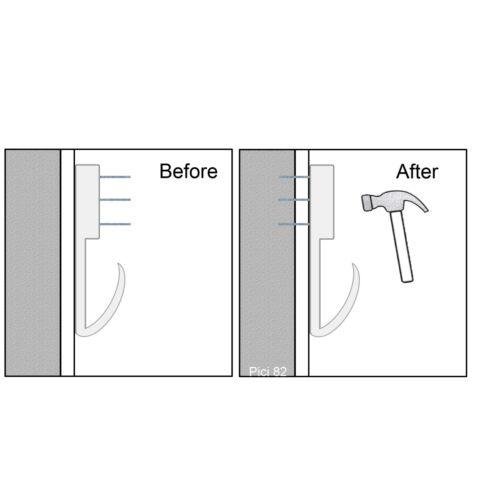 Dur mur image ou photo crochet Qualité 41 mm Cadre Cintre Suspendu en dur