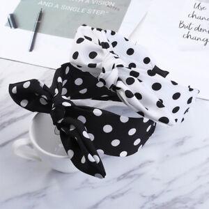 Women/'s Big Bow Headband Dot Hairband Wide Fabric Hair Band Hoop Accessories