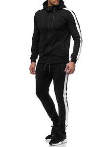 Uomo-Tuta-Jogging-Allenamento-Sportiva-Sweatpants-Felpa-con-Cappuccio-John-Kayna