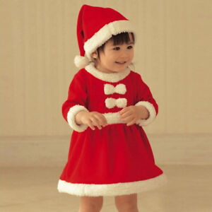 2c2eea709f 2PCS Set Child Kids Toddler Baby Girl Christmas Costume Party Dress+ ...