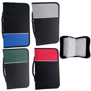 Image is loading NEW-128-DVD-CD-Case-Wallet-DISC-Holder-  sc 1 st  eBay & NEW 128 DVD/CD Case Wallet DISC Holder Fabric Folder Wallet Storage ...