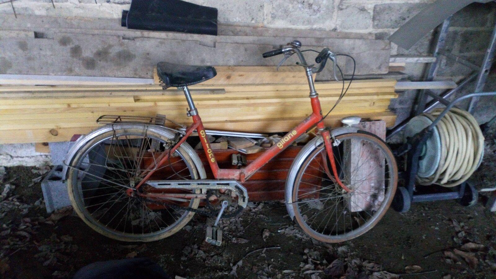 Ancien mini vélo pliable PLICYCLETTE GITANE naranja vintage 70 rétro 1970