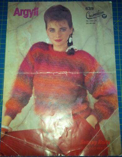 Argyll Knitting Pattern Chameleon 639 Women/'s Round Neck Sweater