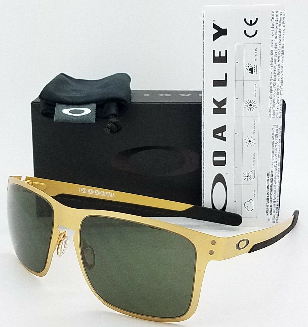 06c62f821c53c Oo4123 0855 Oakley Holbrook Metal Gold Stain dark Gray Sunglasses ...