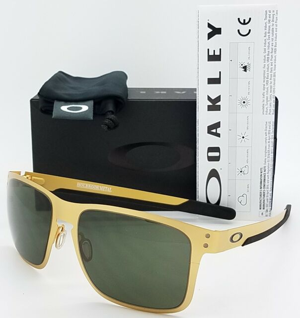2815e0aa1a9 NEW Oakley Holbrook Metal sunglasses Satin Gold Grey 4123-0855 AUTHENTIC  oo4123