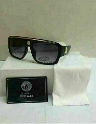 Versace Sunglasses VE9113 Black-Less golden//Black Men Sunglasses 62mm
