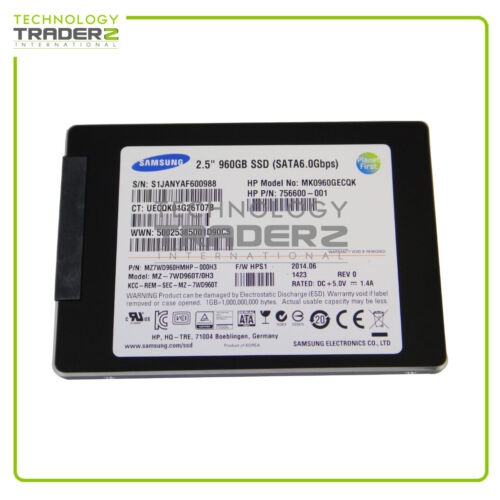 Pulled * MZ7WD960HMHP-000H3 Samsung SV843 960GB SATA 6G 2.5/'/' SFF SSD