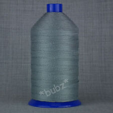 V STRONG TKT 8 GREY SEWING THREAD 1,750m SPOOL CORESPUN UPHOLSTERY LEATHER GLACE