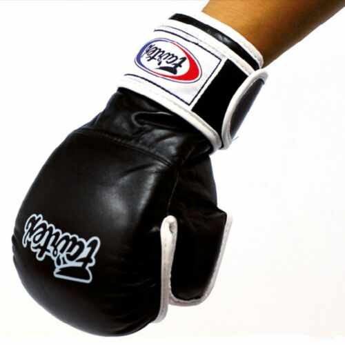 FAIRTEX MMA KICK BOXING SPARRING GLOVES FGV15 COMBAT MARTIAL ARTS BLACK WHITE