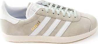 Adidas männer gazelle casual / turnschuhe wildleder - bettwäsche grün / casual weiß 43e422
