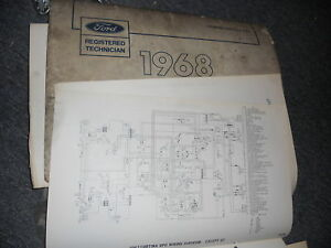 1968 Mercury Cougar And Xr7 Wiring Diagrams Schematics Sheets Ebay