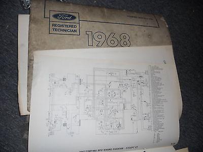1968 FORD F100 F250 F350 B F T SERIES WIRING DIAGRAMS ...
