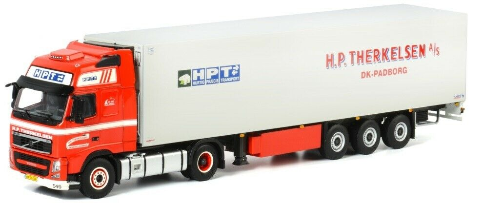 WSI01-1302 - Camion 4x2 VOVLO FH03 Globetrougeter XL avec semi réfrigérante SCHMIT