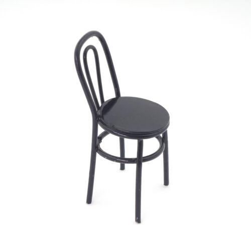 1:12 Maßstab Metall Stuhl Puppenhaus Miniaturen für Puppentisch Zubehör