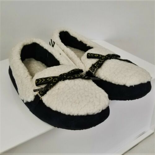 Black NEW ISOTONER WARM Microsuede Women's Closed Back Slippers Size S//P 5-6