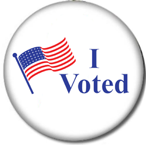 """2020 Election Vote Political Statement I Voted 1/"""" Pin Back Button 5-Pack"""