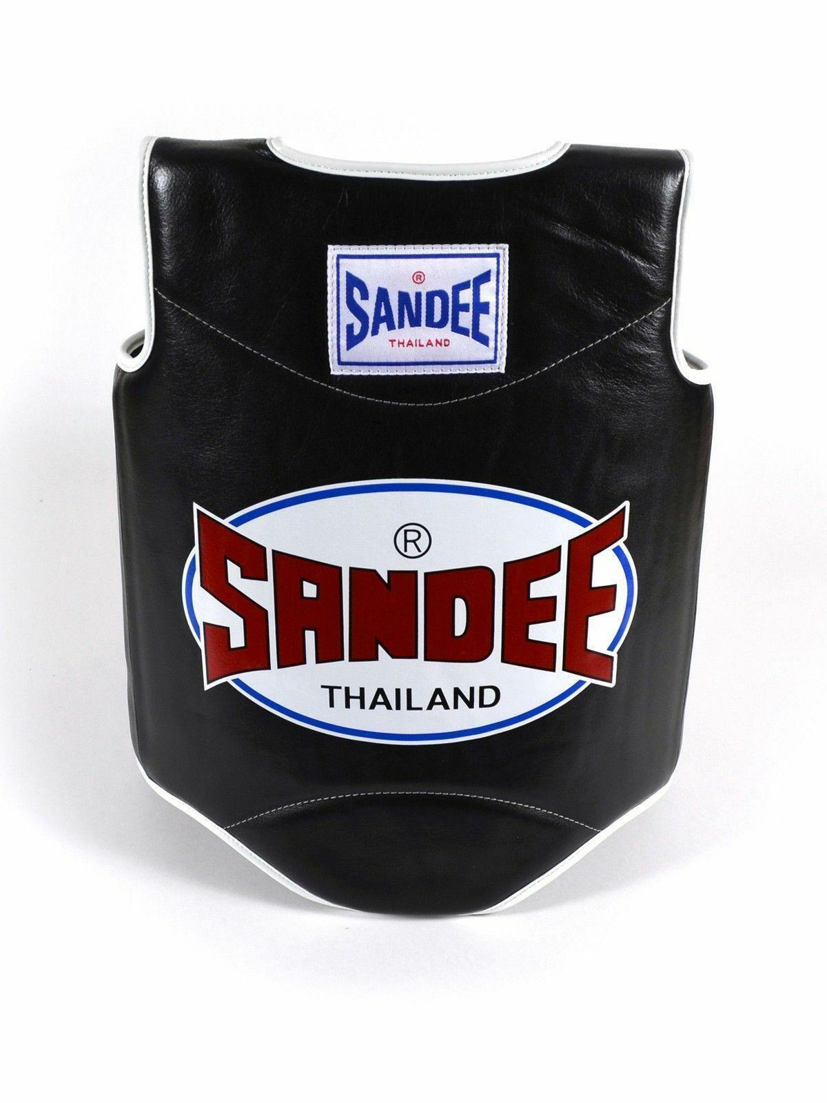SeEE corpo Scudo Scudo Scudo Prossoezione Muay Thai scatolae Pelle sintetica nero bianco 9b5
