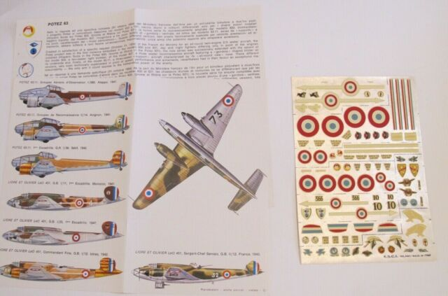 1/72 decals FRANCE Leo 45 Potez 63 ESCI n°36