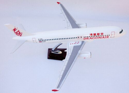 DRAGON AIR LARGE DISPLAY PLANE MODEL  AIRPLANE APX 45cm SOLID RESIN