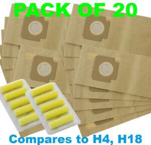 Hoover C1409 C1417 U1060 U1100 U1102 U1220 Aspirateur Sacs-pack De 20-afficher Le Titre D'origine Service Durable