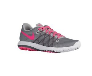 Details about NIB Nike Flex Fury 2 Girls Youth 6 Womens 7.5 Gray & Pink