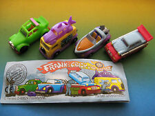 AUTO   FRANKY'S  CRAZY GARAGE   serie completa + cartine KINDER GERMANIA
