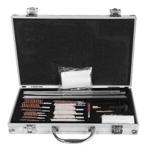 128pcs-Aluminum-Outdoor-Shotguns-Barrel-Cleaning-Kit-Lightweight-Silver