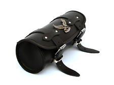 Ph) Black Leather Pouch Tool Roll Bag Honda Shadow vt 600 1100 vtx 1300 1800