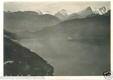 N°84 ZEPPELIN Lac Thoune Lake Thun Switzerland Dirigible AIRSHIP CARD IMAGE 30s