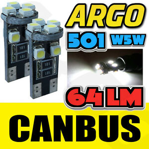 ERROR-FREE-CANBUS-W5W-T10-501-8-SMD-LED-SIDE-LIGHT-BULB