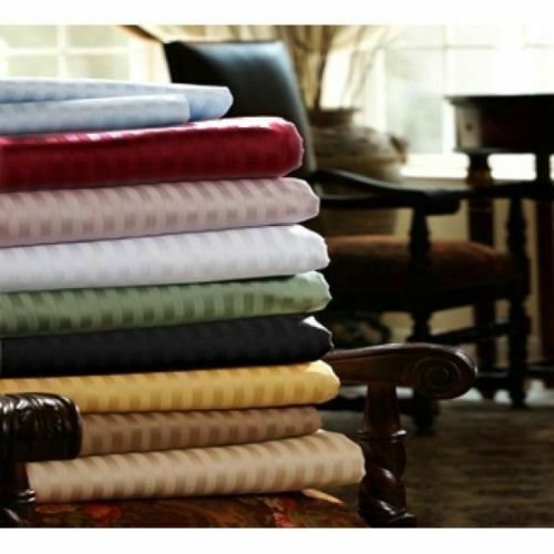 1200 TC EGYPTIAN COTTON 6 PIC BED SHEET SET STRIPED ALL COLORS /& SIZES