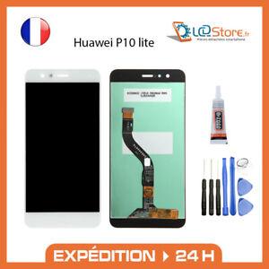 Ecran lcd + vitre tactile Huawei P10 lite Blanc Original + colle + outils