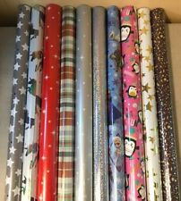 4m - 48 METRES WRAPPING PAPER GIFT WRAP CHRISTMAS BIRTHDAY ROLLS STAR RED WHITE