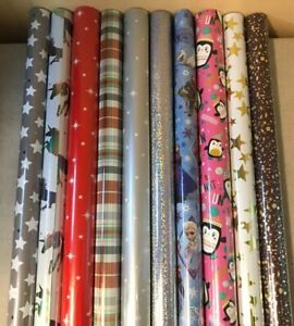 4-40-METRES-WRAPPING-PAPER-GIFT-WRAP-CHRISTMAS-BIRTHDAY-ROLLS-STAR-RED-WHITE-G