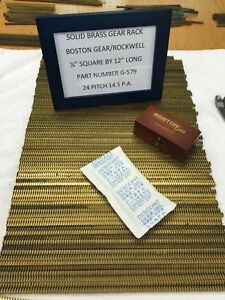BOSTON-GEAR-G-579-GEAR-RACK-FOR-CLOCKS-ETC-CNC-LINEAR-MOTION-12-034-LONG-BRASS-NOS