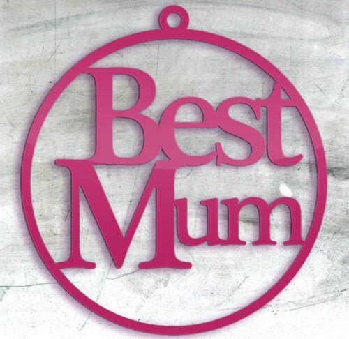 mère cadeau d/'anniversaire rose fête mères arbre de noël babiole gift tag Maman
