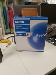Reebok-Unisex-Blue-Gym-Ball-65cm-Fitness-Workout-Keep-Fit-Boxed-CD-Pump