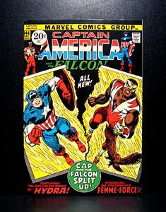 COMICS-Captain-America-144-1971-1st-Falcon-039-s-red-costume-Femme-Force-app