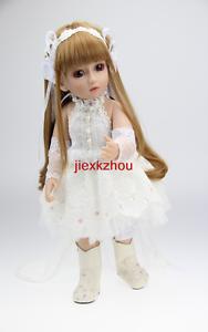 New style Lifelike Long Hair Baby Girl Doll Princess Dress 18inch 45cm