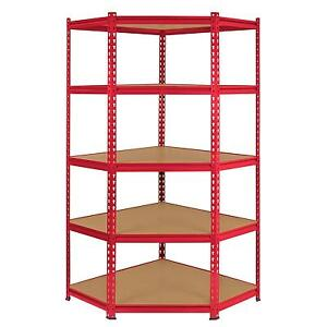 Cool Details About Corner Racking Garage Shelving 90Cm Storage Units Heavy Duty Metal Shelves Mdf Interior Design Ideas Clesiryabchikinfo