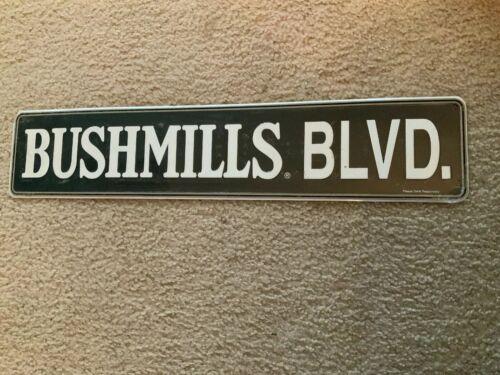 Embossed Tin Sign 5 x 24 New Bushmills Whiskey Metal Sign BUSHMILLS BLVD