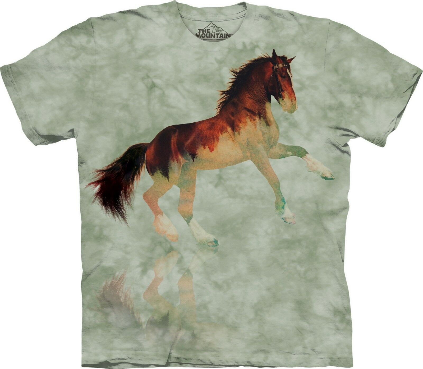The Mountain Unisex Adult Forest Stallion Equine T Shirt