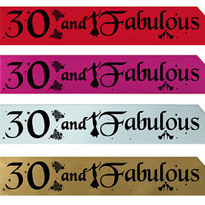 30TH-BIRTHDAY-GIRL-PARTY-SASH-NIGHT-OUT-ACCESSORY-FUN-GIRLS-SASHES-THIRTY-New-p