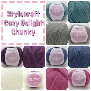 Stylecraft-COSY-DELIGHT-Chunky-Soft-fluffy-Acrylic-Knitting-Yarn-100g