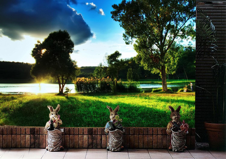3D Dunkle wolken, Schatten, 4 Fototapeten Wandbild Fototapete BildTapete Familie