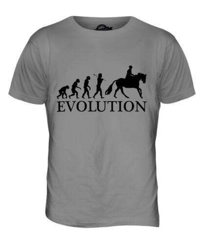 EQUESTRIAN EVOLUTION OF MAN MENS T-SHIRT TEE TOP GIFT HORSE RIDING