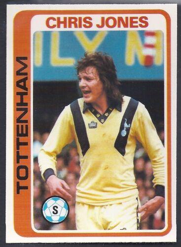 CHRIS JONES -#036- TOTTENHAM SPURS PALE BLUE BACK 1979 TOPPS-FOOTBALL