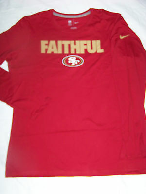 Nike Women's San Francisco 49ers Long Sleeve Faithful Shirt NWT