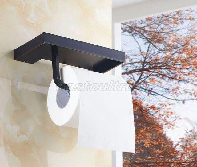 Black Oil Rubbed Bronze Bathroom Toilet Paper Holder Tissue Bar